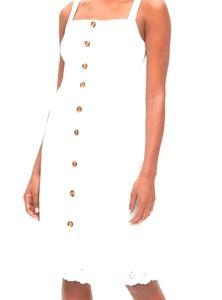 Gap 100% cotton eyelet embroidered apron dress